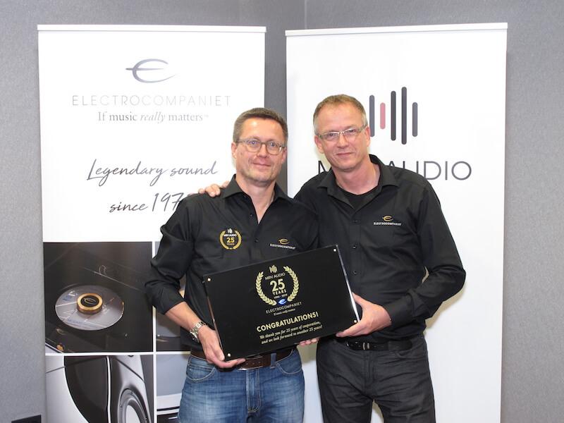 25 Jahre Zusammenarbeit von Electrocompaniet und MRV